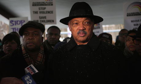 The Rev Jesse Jackson in Chicago